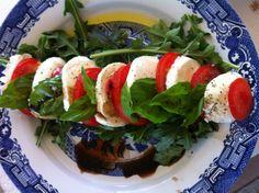 Tomato Bocconcini Salad recipe. So easy, so delicious.