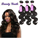 """Amazon.com : Brazilian Body Wave 1 Bundle Virgin Hair Tangle Free 7A 100% Unprocessed Human Hair Weaves 8-30 Inches 100g Natural Color Hair Extensions (18"""") : Beauty"""
