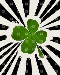 St. Patrick's Day background with lucky four-leaf clover, 6399, Backgrounds, Textures, Abstract,  Download, Royalty-free, Vector, eps, clip art, graphics