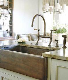 Copper Apron-Front Sink  Farmhouse