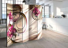 Orchideás beltéri paraván #térelválasztás #térelválasztó #beltéri #díszparaván #virágos #virág #nappali #konyha #elválasztás #ötletek #otthon #lakás #berendezés #bútorok