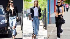 Lily Aldridge, Karlie Kloss und Gigi Hadid wissen genau, wie sie die Baggy Pants inszenieren müssen, damit ihr Outfit zum Hingucker wird