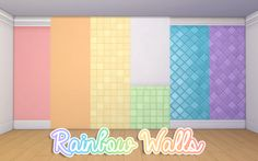 Rainbow WallsThis is a random group of walls that I recolored for my rainbowcy that I decided to finally upload. It is a set of five walls. The basic standard paint walls come in all colors with both...