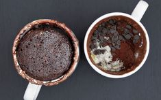 A mug of rich chocolate brownie ready in under two minutes? Yes please