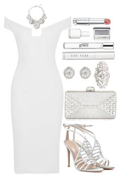 """Untitled #3533"" by natalyasidunova ❤ liked on Polyvore featuring Cushnie Et Ochs, Judith Leiber, Gianvito Rossi, Elise Dray, Bobbi Brown Cosmetics, Essie, philosophy, Christian Dior, Clinique and Dolce&Gabbana"