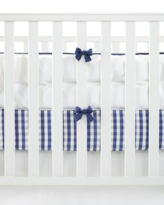 Graphic gingham brings a touch of tailoring to the nursery. #serenaandlilybaby