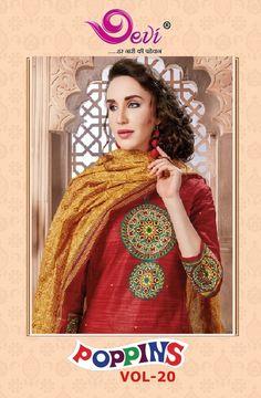 2a05968c60 Devi Poppins Vol-20. Textile Mart · Dress Material. Textilevilla pvt ltd