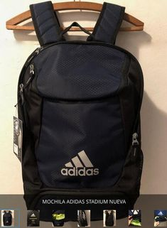6b04523e958 NEW BACKPACK ADIDAS STADIUM BLACK AND NAVY BLUE  fashion  clothing  shoes   accessories