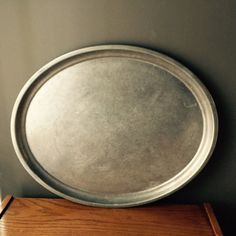 Huge Oval Tray Vintage Aluminum Serving Tray by Pincapallina
