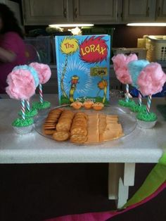 """How hard would it be to make our cheese and cracker tray into the lorax tray? Storybook Party / Birthday """"2 Year old birthday party"""""""