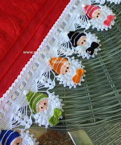 Cute crochet elves edging -tutorial: