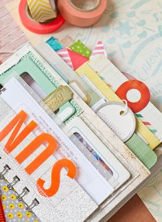 Such a cute mini album idea.  Crate Paper tutorial: Pier Pocket Mini Album