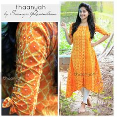 Dress Indian Style, Indian Fashion Dresses, Indian Wear, Fashion Clothes, Simple Kurta Designs, Kurta Designs Women, Sleeves Designs For Dresses, Dress Neck Designs, Ikkat Dresses
