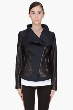 MACKAGE Wool/Leather Jacket