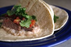 #CookClub recipe: Steak Tacos with quick and easy refried beans