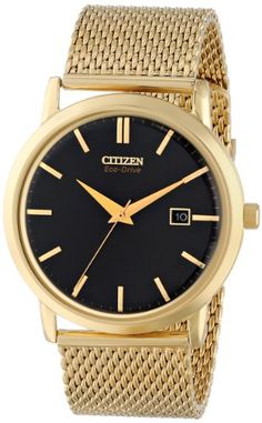 "Citizen Men's BM7192-51E ""Mesh Collection"" Gold-Tone Watch with Mesh Band"