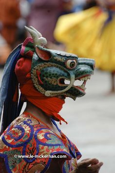 masked dancer, Bhutan. © www.le-mckernan.com - All Rights Reserved