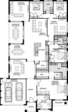 Queenstown Prestige Eden Brae Homes Queenstow Sims House Plans, House Layout Plans, Bungalow House Plans, Best House Plans, Dream House Plans, House Layouts, House Floor Plans, 4 Bedroom House Plans, Family House Plans
