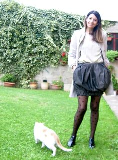 Gonna palloncino calze pois calzedonia stringate