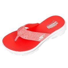 Skechers GOwalk Move 13632 Damen Zehentrenner red Gr.35 - Clogs für frauen (*Partner-Link)