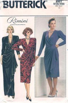 Plus size color block dress pattern
