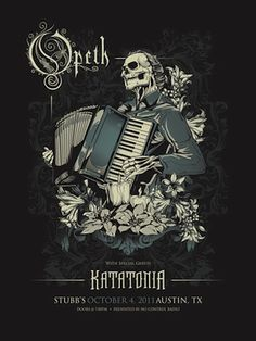 opeth & katatonia poster : saw them together in Worcester, MA, best show of my life