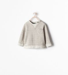 ZARA - KIDS - SWEATSHIRT WITH BUTTONED POCKET AND ELBOW PATCHES!