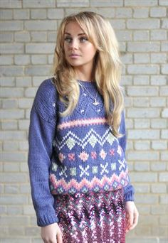 Vintage Christmas Fairisle Knitted Jumper  £42.00