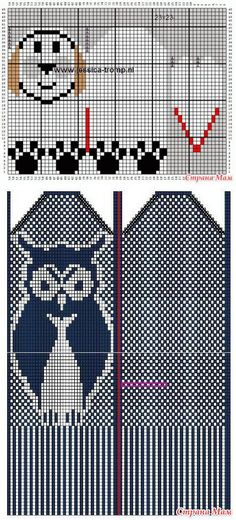 Схемы детских жаккардовых рукавичек. - МИР В МОИХ РУКАХ! - Страна Мам | вязание(жаккард,вышивка) | Постила