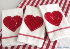 PB Inspired Valentines Day Tea Towels | http://brendid.com/pb-inspired-valentine-tea-towels/