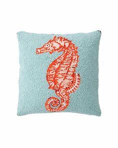 Seahorse pillow from Rue La La