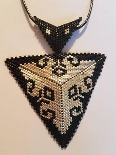 3D peyote triangle pendant