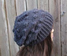 CROCHET PATTERN!!! Crochet Hat - Slouchy Hat, Crochet Pattern PDF,Easy, Pattern No. 60
