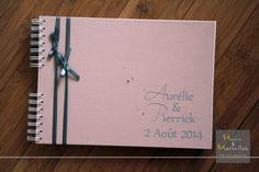Livre d'or Vieux rose et gris http://www.mainsetmerveillesdeco.fr/livre-dor-vieux-rose-gris/