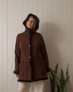Vintage coat, size M Faux Shearling Jacket, Fur Coat, Vintage Coat, Im Not Perfect, Jackets, Shopping, Fashion, Vintage Coat Rack, Down Jackets