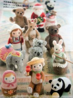 small world trip-encircled by felted wool--japanese craft book by feltcafe,