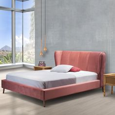 Modern velvet bed with metal legs Velvet Bed, Beds, Metal, Modern, Furniture, Home Decor, Trendy Tree, Decoration Home, Room Decor