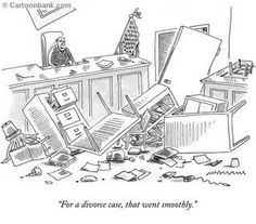 "Premium Giclee Print: ""For a divorce case, that went smoothly."" - New Yorker Cartoon by Mick Stevens : In Laws Humor, Legal Humor, Divorce Memes, Divorce Lawyers, Family Law Advice, Beagle, Law School Humor, Lawyer Humor, Family Law Attorney"