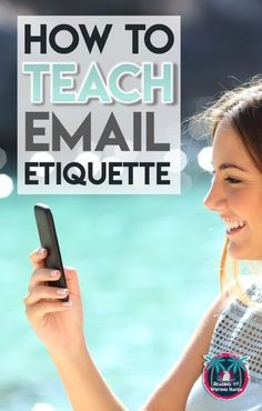 How and why to teach email etiquette in middle and high school classrooms emailetiquette highschoolela readingandwritinghaven 179651472621048105 Library Lessons, Writing Lessons, Teaching Writing, Student Teaching, Teaching Ideas, Teaching Literature, College Teaching, Math Lessons, Business Education Classroom