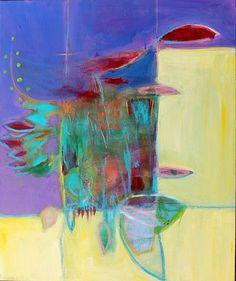 """Shield"" Abstract Painting Kerri Blackman"