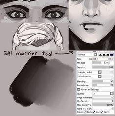 23 artistic brushes - Free brushes for Sai Paint Tool Concept Art Tutorial, Digital Art Tutorial, Digital Painting Tutorials, Painting Tools, Art Tutorials, Sai Brushes, Photoshop Brushes, Free Brushes, Drawing Techniques