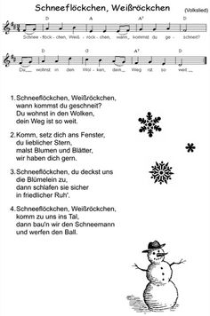 Endlich Schnee(flöckchen, Weißröckchen)! Finally it's time for singing the German winter song, as we had first snow in Berlin today.