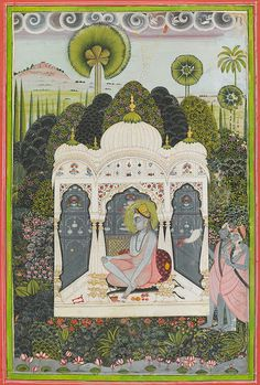 The Luminescent: Jālandharnāth at Jalore  By Amardas Bhatti.  India, Rajasthan, Marwar, Jodhpur, ca. 1805–10.  Opaque watercolor and gold on paper; 39 x 29 cm.  Mehrangarh Museum Trust, RJS 4126