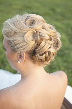picture perfect wedding hair  http://www.weddingchicks.com/2014/01/27/pastel-sheep-wedding-inspiration/