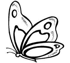 mariposas para colorear bonitas