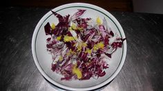 RADICCHIO SALAD: WITH ORANGE PULP, ORANGE JUICE, OLIVE OIL AND SEASONED WITH SALT TO TASTE!