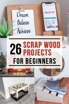 Great collection of easy DIY scrap wood projects and ideas! Small projects that are fun to make. Make organization, home decor, storage. These simple projects are perfect for beginner woodworking! Easy Small Wood Projects, Wood Projects For Beginners, Scrap Wood Projects, Wood Working For Beginners, Diy Craft Projects, Project Ideas, Kreg Jig Projects, Woodworking Projects That Sell, Diy Woodworking