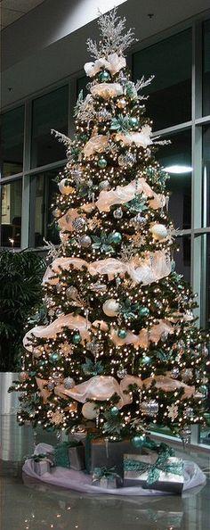 CHRISTMAS TREE #teal #aqua #turquoise