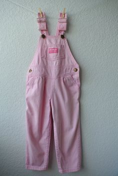 Vintage Toddler Clothes  Pink & White Stirpe  Train by NellsNiche, $18.00