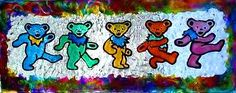 This is a 6 x 12 Hand crafted Grateful Dead Marching Bear window cling. This is one of my favorite things I've made. Can be purchased through my Etsy store.